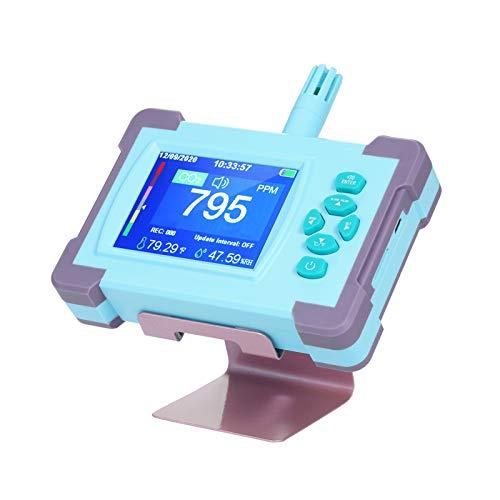 CO2-Messgerät Kecheer luftqualität messgerät mit Akku co2-ampel für Luftqualitäts Detektor Monitor mit Temperatur/Feuchtigkeits-Monitor mit Aufbewahrungskoffer 【Version 2020】