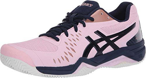 ASICS Gel-Challenger 12 Clay Scarpe da tennis da donna, rosa (Cotone Candy/Peacoat), 36 EU