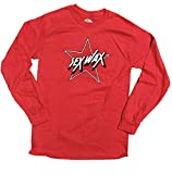 Sex Wax Men's Long Sleeve T-Shirt (Choose Style and Size) (Pinstripe Star Red, Small)