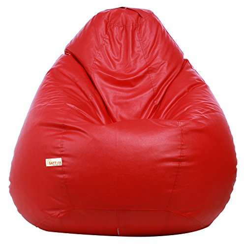 Sattva Classic Bean Bag Cover (Without Beans) XXL Size - Red