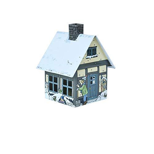 Crottendorfer Metall Haus mit integriertem Räucherkerzenhalter Winterfreude