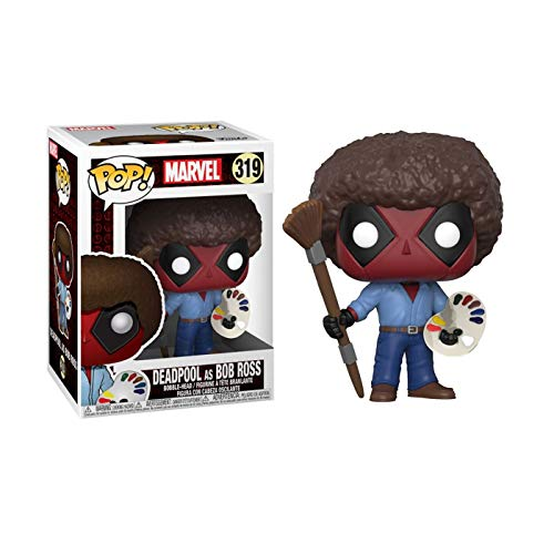 Funny Deadpool bob ross funko pop figurine