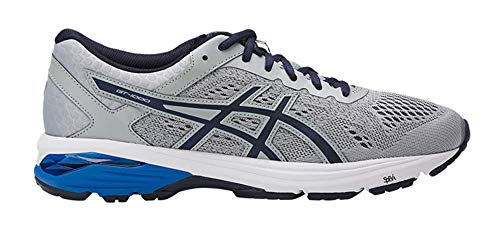 ASICS Men's GT-1000 6 Running Shoe, Mid Grey/Peacoat/Directoire Blue, 7.5 Medium US