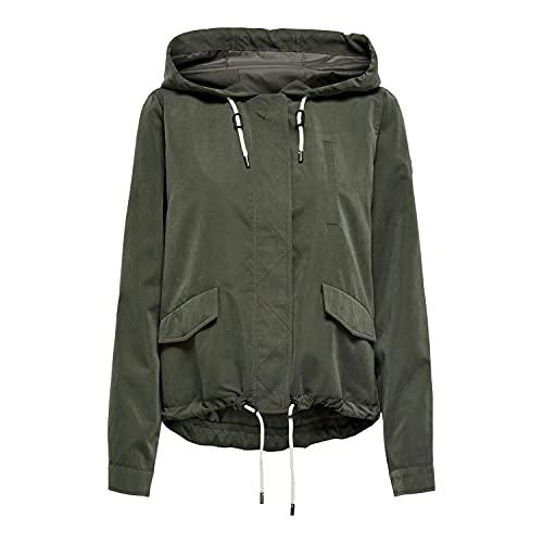 ONLY Damen ONLNEWSKYLAR Spring Jacket CC OTW Jacke, Black Olive, M