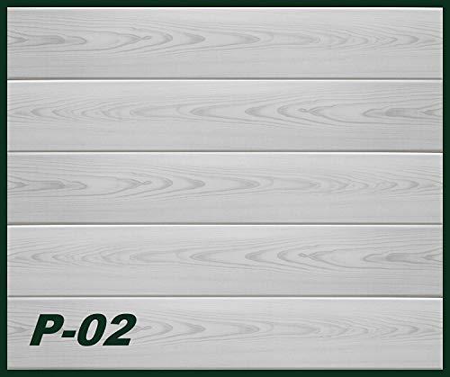 20 qm Deckenpaneele | graue Holzmaserung | extrudiertes Polystyrol | Inneneinrichtung | Dekor Paneele | XPS | Hexim | 100 x 16,7 cm | P-02