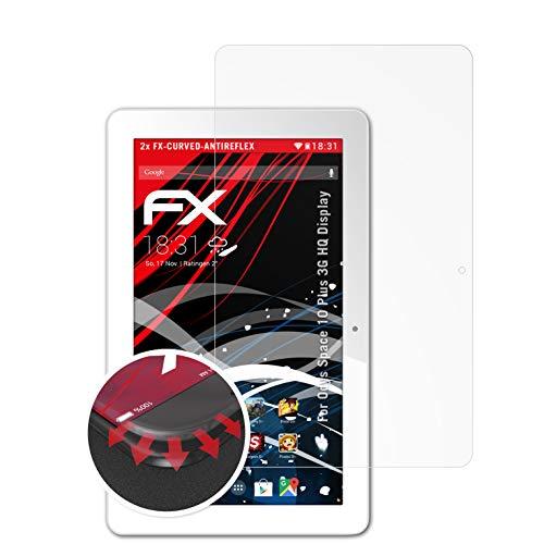 atFolix Schutzfolie kompatibel mit Odys Space 10 Plus 3G HQ Bildschirm Folie, entspiegelnde & Flexible FX Bildschirmschutzfolie (2X)