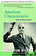 American Characteristics and Other Essays