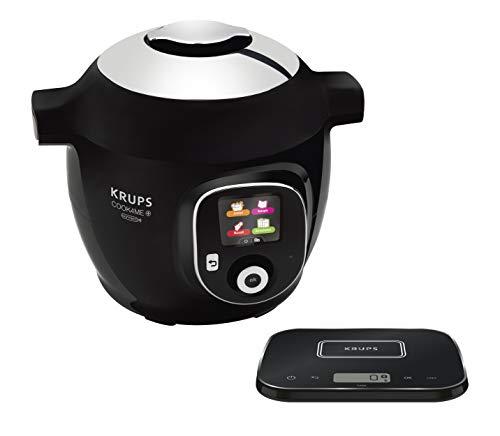 Krups CZ8568 Cook4Me+ Grameez Multikocher inkl. vernetzte Küchenwaage, (1600 Watt, 6 Kochstufen, Fassungsvermögen: 6 Liter, kompatibel mit der Cook4Me App) schwarz/grau