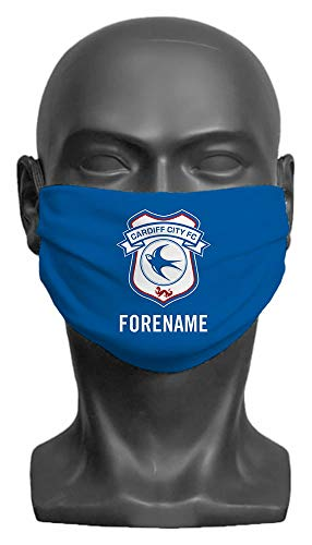 Personalised Cardiff City FC Crest Adult Face Mask- Large