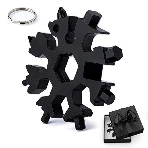 Schneeflocke Multi-Tool 18-in-1 tragbare Edelstahl Multitool, Schraubendreher Flasche Dosenöffner Allen Key Handy Gadget Kleine Geschenke für Männer