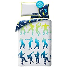 Epic Games Fortnite - Juego de cama (100 % algodón, funda nórdica de 140 x 200 cm, funda de almohada)