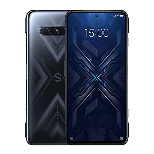 BLACK SHARK 4 Spieltelefon 5G 8GB 128 GB, Dual-SIM Smartphone, 144 Hz 6,67 Zoll Bildschirm, Snapdragon 870, 48MP Dreifachkamera, 4500 mAh Batterie Mobiltelefon, EU-Version, Schwarz