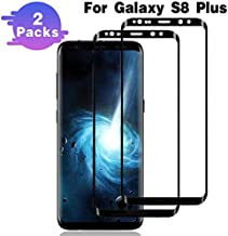 Galaxy S8 Plus Screen Protector,(2 Packs) Full Coverage/3D Curved/Anti-Scratch/Anti-Bubble/High Definition/Tempered Glass Screen Protector Compatible Samsung Galaxy S8 Plus