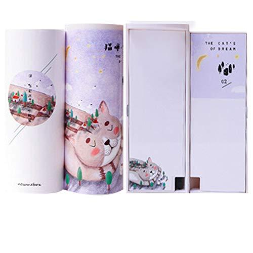 N / A Caja de lápices de Unicornio Flamingo Estuche Escolar newmebox Kawaii Bolso de Escuela bolígrafo Estuches Caja de lápices Caja de lápices Escuela como espectáculo