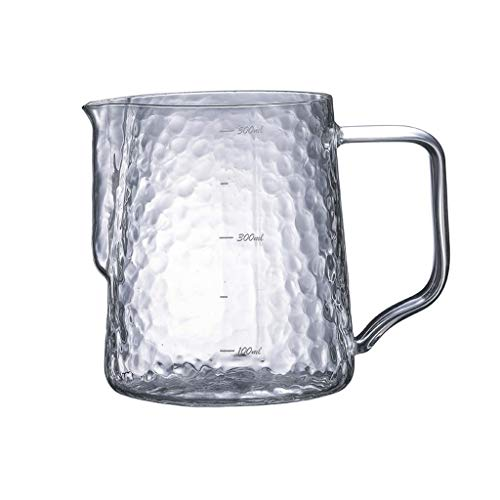 Borosilicate Glass Espresso Milk Frothing Pitcher Coffee Milk Frothing Cup Coffee Steaming Pitcher Can Be Scaled