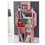 Yanxinenjoy Einfache und stilvolle Multifunktions-Bücherregal Mode Umweltschutz Regal rosa