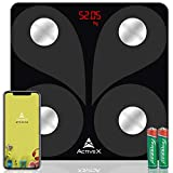 ActiveX (Australia) Savvy Smart Digital Body Composition Body Fat Scale with free ActiveX app - Charcoal Black