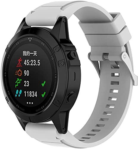 Chainfo Correa de Reloj Reemplazo Compatible con Garmin Fenix 6X Pro/Fenix 6X Sapphire/Fenix 3 / Fenix 5X Plus/5X Sapphire, la Correa de Reloj Watch Band Accessorios (Pattern 6)