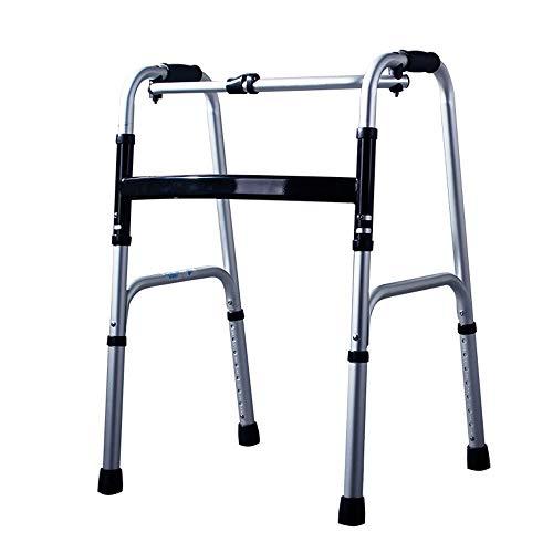 Inklapbare rollator/rollator, bejaarde in hoogte verstelbare badstoel met stoel, Standaard wandelaars, invalidentraining, aluminium frame