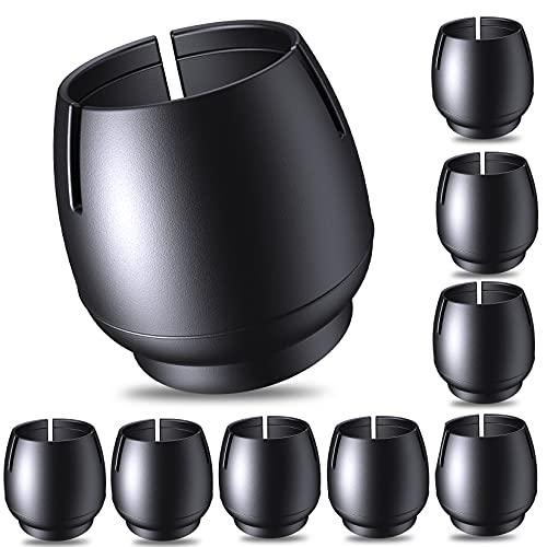 COTTONIX Stuhlbeinkappen für Stuhlbeine, 32 Stück Stuhlbeinkappen Filz Stuhlbeinschoner - Stuhlbeinkappen Silikon, Für runde Stuhlbeine mit einem Durchmesser von 17-21 mm, Schüzt vor Kratzern