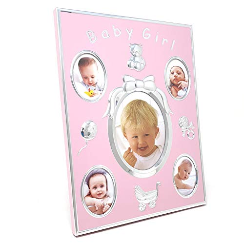 The Leonardo Collection Baby Girl Cadre Photo Mural sur Pied Rose