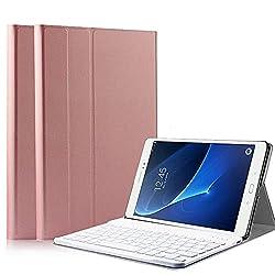 [Étui clavier pour Galaxy Tab A 10.1 2018] Cet étui est conçu pour la tablette Samsung Galaxy Tab A 10.1 SM-T580 / T585. Il ne sera compatible avec aucun autre modèle d'appareil; Conception tout-en-un: clavier sans fil + support + étui de transport, ...