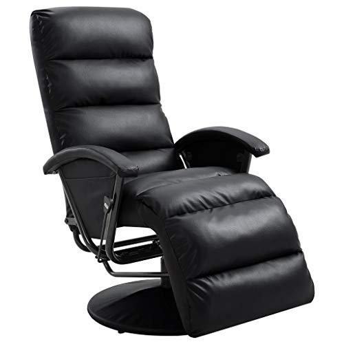 vidaXL TV Sessel Fernsehsessel Relaxsessel Liegesessel Ruhesessel Polstersessel Relaxliege Liegestuhl Ledersessel Loungesessel Schwarz Kunstleder