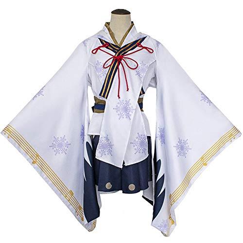 ZWJX Miku Hatsune Party Dresses Hatsune Miku Miko Halloween Cosplay Japanese Anime Skirts Flare Sleeve Women Costumes Corset Dress for Christmas Xmas Birthday,M
