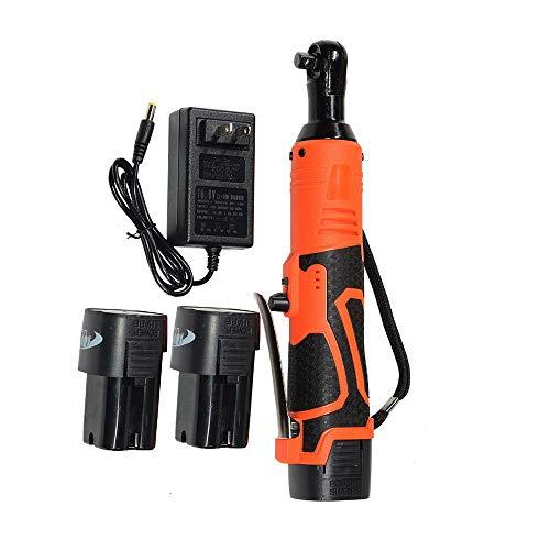 Excelente compra 3/8 pulgadas 18 V 60 N.m llave de trinquete eléctrica juego de herramientas sin cable con cargador Kit y 2 baterías