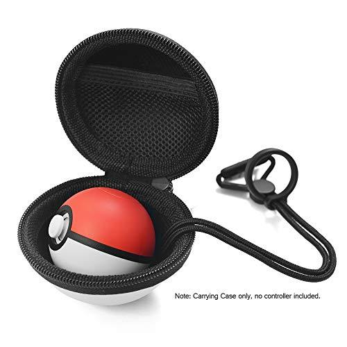 Andoer Saco de armazenamento de capa de proteção para Nintendo Switch Poke Ball Plus Controlador de transporte Caixa de transporte EVA Game Bag com gancho portátil