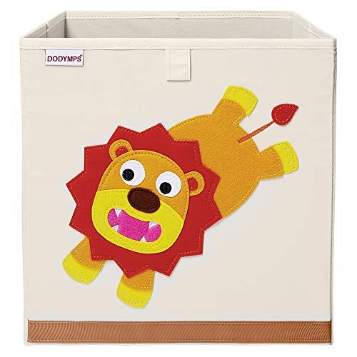 DODYMPS Foldable Animal Toy Storage Bins/Cube/Box/Chest/Organizer for Kids & Nursery, 13 inch (Daring Lion)