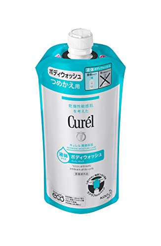キュレル ボディウォッシュ つめかえ用 340ml (赤ちゃんにも使えます) 弱酸性 ・ 無香料 ・ 無着色 ボディソープ 単品