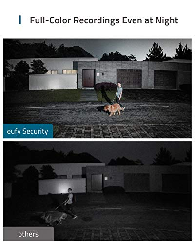 eufy AK-T84201W1 Security Floodlight Camera, 1080p,2-Way Audio No Monthly Fees, 2500-Lumen Brightness, (Existing Outdoor Wiring and Weatherproof Junction Box Require   d)