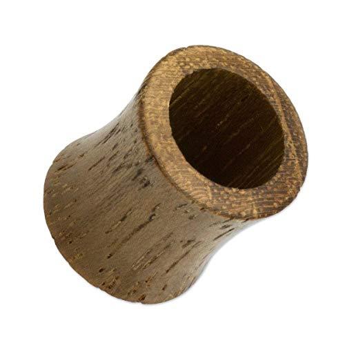 SoulCats Túnel dilatador de madera de teca de 3 a 25 mm, tamaño: 22 mm