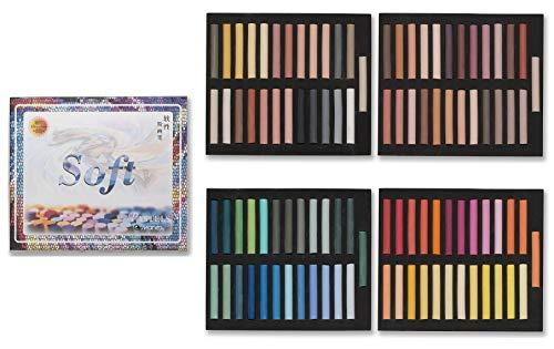 PASTELLKREIDE 100 Stück Marie\'s Pastellkreiden je 50 Warme (Set A) und 50 Kalte (Set B) Farben