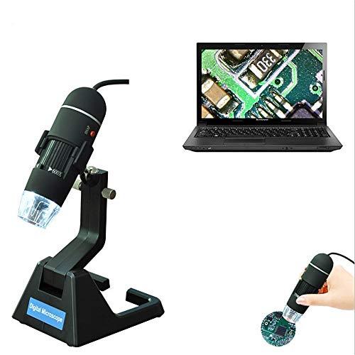 YUDIYUDI-EM Kinder Educational Mikroskope, 25 Zum USB-Mikroskop Digital-Mikroskop mit faltbarem Standplatz Echt 2MP Sensor 8 LED USB Digital Handmikroskop Kompatibel mit Windows XP/Vista / 7 600x