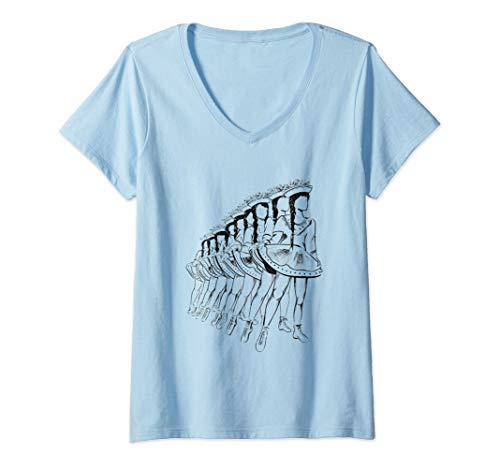 Damen Garde | Gardemädchen | Tanzgarde | Funkengarde | Karneval T-Shirt mit V-Ausschnitt
