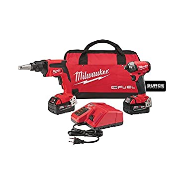 Milwaukee 2896-22 Power Tool Combo Kit Featuring M18 FUEL 18-Volt Lithium-Ion Brushless Cordless Drywall Screw Gun/Impact Driver