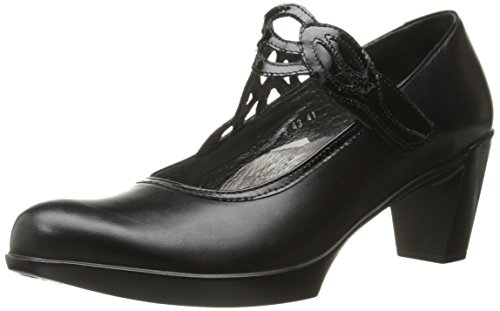 Naot Women's Luma Black Madras Lthr Combo Maryjane Heel 10 M US