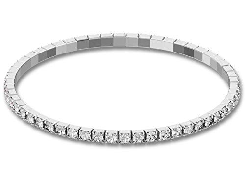 SWAROVSKI® Stretch Armband CRYSTAL - Tennis Armband mit Kristallen - DEHNBAR