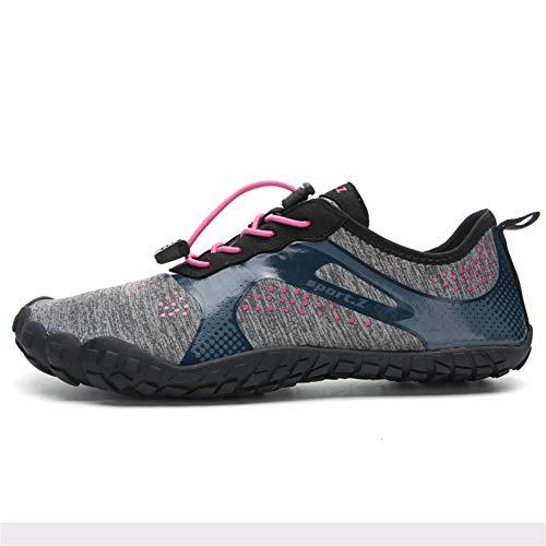 LFLDZ Frauen der Männer Wasser Schuhe, Schnell trocknend Aqua Schuhe Leichte Durable Barefoot Wasserschuhe, für Schwimmbad Segeln Surfen Tauchen Yoga (35-46),Rosa,45