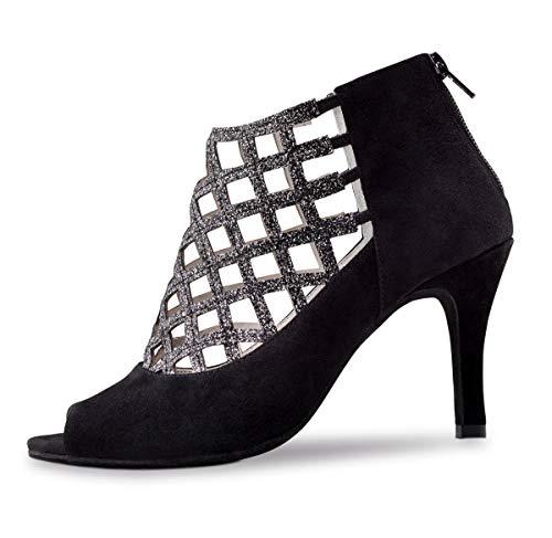 Su/ède Noir Anna Kern Femmes Chaussures de Danse 572-50 5 cm