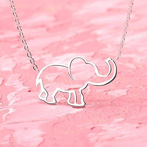 WSBDZYR Co.,ltd Necklace Fashion Modern Exquisite Necklace Hollow Hollow Necklace Modern Elephant Exquisite Pendant Necklace for Women Men Silver Gems