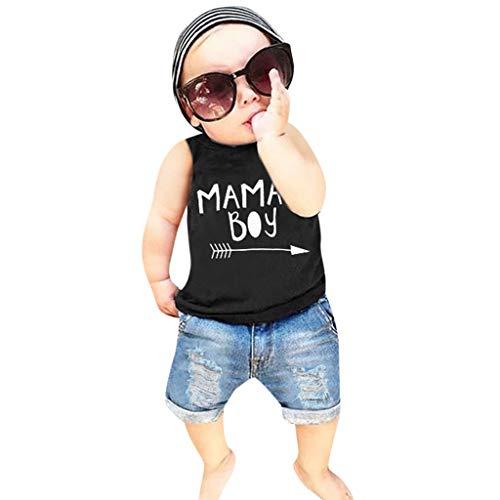 Allence Neugeborene Kleidung Babykleidung T-Shirt Weste Hosen Outfits Baby Junge Mädchen Tops Hosen Outfits Kleidung Sets Baby Strampler Hose Outfit Set