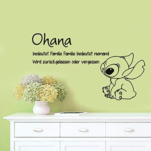 Ohana bedeutet Familie Wandaufkleber Abziehbilder Familie bedeutet niemand Wird zurückgelassen oder für Kinderzimmer Kinderzimmer vergessen