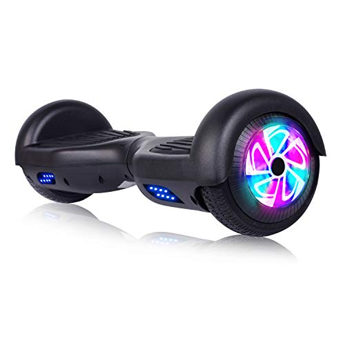 """Jolege Hoverboards Colorful LED Light 6.5"""" Two-Wheel Smart Self Balancing Electric Scooter - UL 2272 Certified for Kids and Adult,The Best Gifts Choice"""