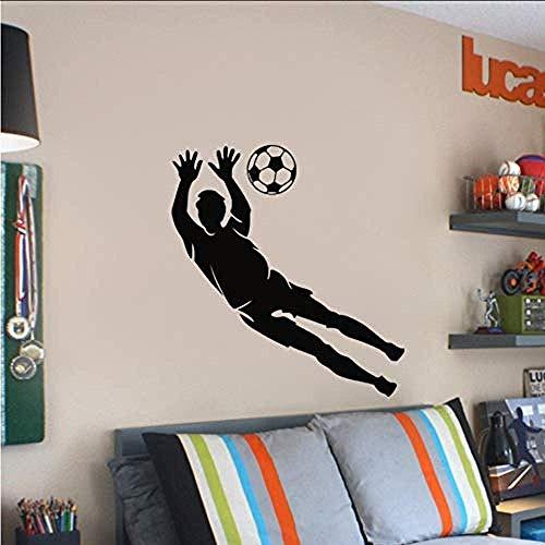 Disponible en numerosos tamaños Pegatinas de pared de vinilo Deportes Fútbol Portero Arte de la pared Calcomanía para Adolescentes Habitación Niño Dormitorio Decoración 58X61Cm