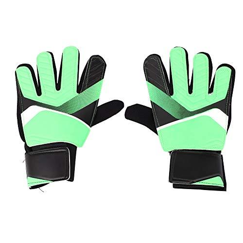 Dwawoo Football Kids Goalie Handschuhe, Jugend Goalie Finger Save Handschuhe Fußball Zubehör(S-Grün)