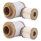 FD-4616 6.4 Fuel Filter for Ford 6.0L Powerstroke 4 Micron Filter 03-07 Ford F250 F350 F450 F550 Super Duty 03-05 Replace 3C3Z9N184CB 3C349N074BA 3C3Z9N184CA(pack of 2)