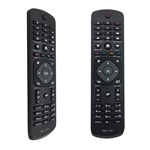 FOXRMT Replacement Telecommande Philips TV pour Telecommande Philips Fonctionne avec Toutes Les Telecommande Universelle Philips 4K UHD HDR Smart TV